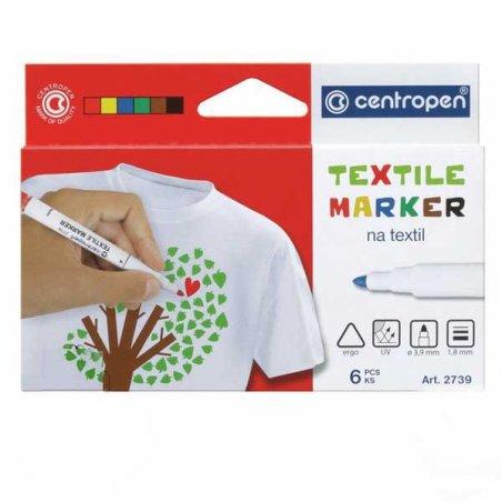 Набор из 10ти маркеров для ткани Centropen Textile, 1,8 мм