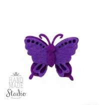 Заготовка из фетра Бабочка фиолетовая, 4х3,5 см
