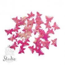 Пайетки Бабочки, цвет перламутрово-малиновый (2 г)