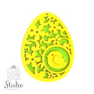 Подвеска из фетра Ажурное яйцо, 11х8,5 см