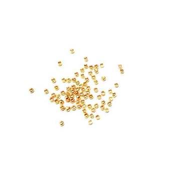 Стопперы для зажима бусин кримпы d2мм, цвет золото