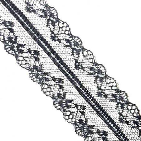 Кружево Аллюр №10, цвет черный 4 см
