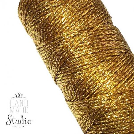 Шнур люрексовый, цвет золото 2 мм, 10 м