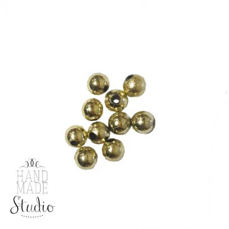 Декоративные пластиковые бусины , цвет золото, 0,8 см