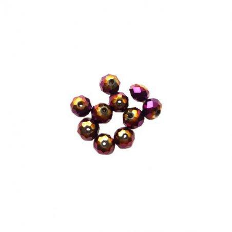Бусины чешский хрусталь 4 мм, цвет лиловый с напылением №129