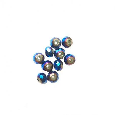 Бусины чешский хрусталь 4 мм, цвет синиий с напылением №130
