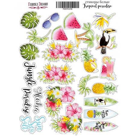 "Набор наклеек (стикеров) ""Tropical paradise"", 016"