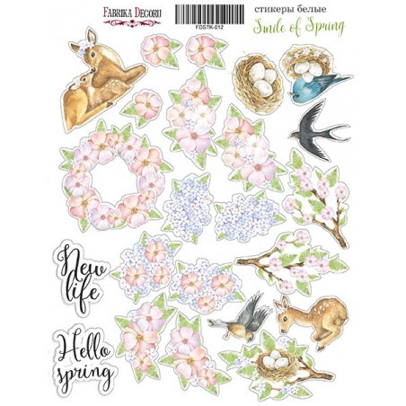 "Набор наклеек (стикеров) ""Smile of spring"", 012"