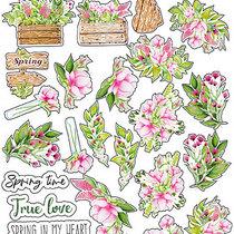 "Набор наклеек (стикеров) ""Spring blossom"", №004"