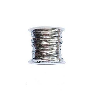 Проволока фольгированная, цвет серебро 4мм, катушка 10м
