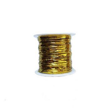 Проволока фольгированная, цвет золото 4мм, катушка 10м