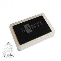 Штемпельная подушечка Santi с пигментным чернилом 6х4 см, цвет черный
