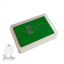 Штемпельная подушечка Santi с пигментным чернилом 6х4 см, цвет зеленый