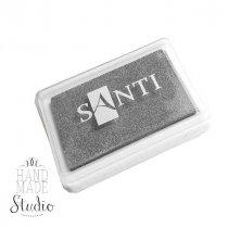 Штемпельная подушечка Santi с пигментным чернилом 6х4 см, цвет серебро