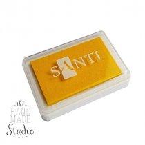 Штемпельная подушечка Santi с пигментным чернилом 6х4 см, цвет желтый