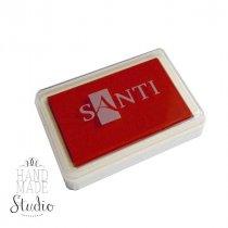 Штемпельная подушечка Santi с пигментным чернилом 6х4 см, цвет алый