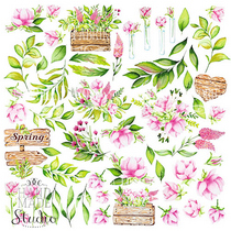 "Лист односторонней бумаги ""Spring Blossom"", 30,5x30,5 см, 200 г/м2, 1 лист"