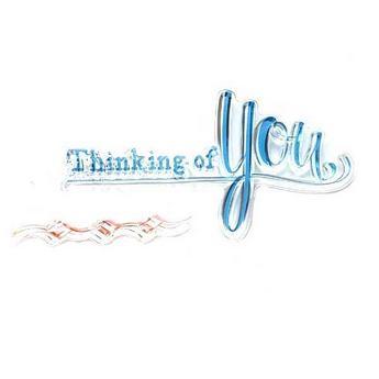 """Силиконовый штамп """"Thinking of You"""" 7,5х4см"""