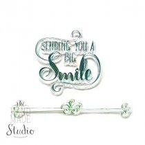 """Силиконовый штамп """"SENDING YOU A BIG Smile"""" 6х5,5см"""