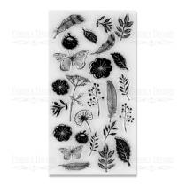 """Набор силиконовых  штампов """"Летние цветы"""" FDSS-0019 11,5*20,5см"""