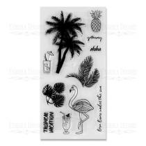 """Набор силиконовых  штампов """"Tropical Paradise №1"""" FDSS-0032 10,5*20см"""