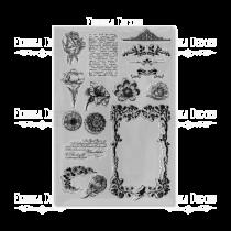 """Набор силиконовых  штампов """"Винтажные цветы"""" FDSS-0067 10*15см"""