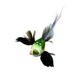 Декоративная птичка на проволоке (5см),  цвет зеленый