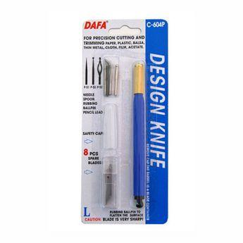 Макетный нож DAFA С-604Р (8 лезвий+4насадки)