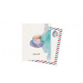 "Мини открытка ""Coffee?"" 10х7,5 см"