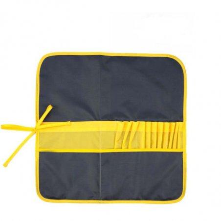 Пенал для кистей ROSA Studio, 37х37см, цвет асфальт+желтый