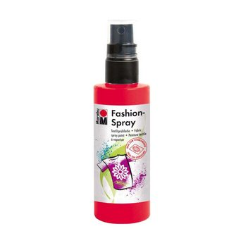 Краска-спрей для ткани Fashion-Spray Marabu, 100 мл., цвет красный