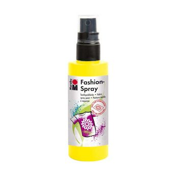 Краска-спрей для ткани Fashion-Spray Marabu, 100 мл., цвет желтый