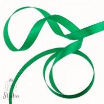 Атласная лента, цвет зеленый, 12 мм (21м.)