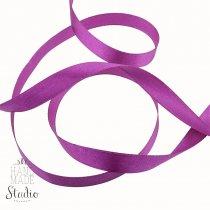 Атласная лента, цвет пурпурный, 12 мм (21м.)