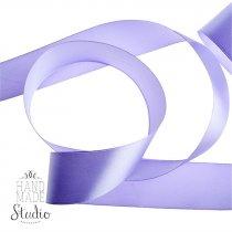 Атласная лента, цвет сиреневый, 50 мм (22м.)