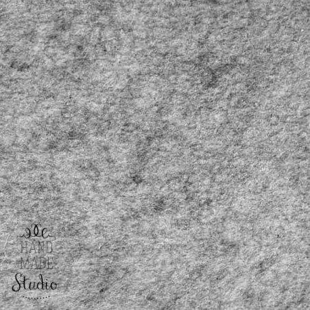 Фетр жесткий 1 мм, 20х25 см, светло-серый меланж