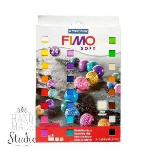 Набор полимерной глины FIMO Soft, 24 цвета по 25 г 8023 02