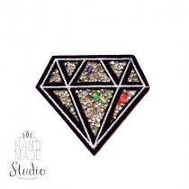 Термонашивка Бриллиант+кристаллы, 7,5х6,5 см