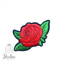 Термонашивка Роза №8, 11,5х8 см