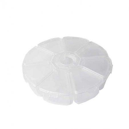 Органайзер для фурнитуры прозрачный круглый ромашка, 10*2,6см