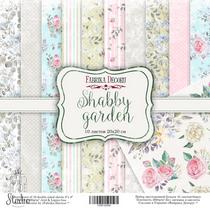 "Набор двусторонней бумаги 20х20 см ""Shabby garden"" 10шт"
