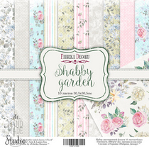 "Набор двусторонней бумаги 30,5х30,5 см ""Shabby garden"" 10шт"