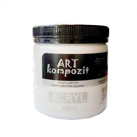 Акриловая краска ART kompozit, 430 мл  №018 Белила титановые