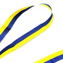 Лента репсовая декоративная желто-голубая украинский флаг 1,5 см, №4, 1м