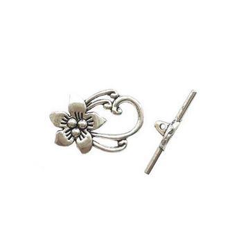 "№50 Тогл ""Цветок"", цвет античное серебро"