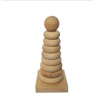 Пирамидка детская, 10х10х20 см