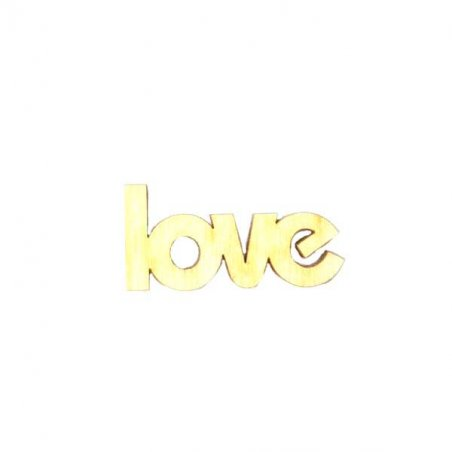 """Малое слово """"Love"""", 4.3х2 см"""