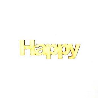 """Малое слово """"Happy"""", 7,7х2 см"""