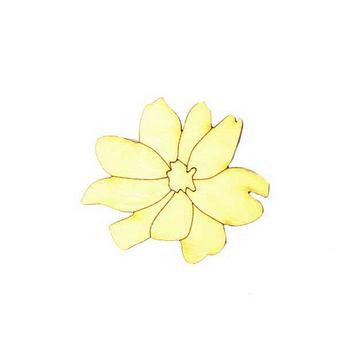 Деревянная заготовка Цветок №3, 6,5х5,6 см