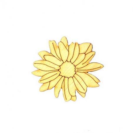 Деревянная заготовка Цветок №4, 6х5,6 см